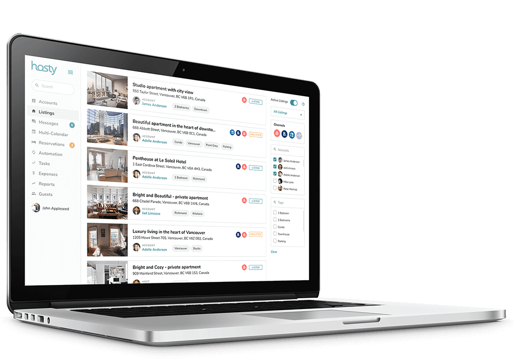 Airbnb Business - Listing Management Feature