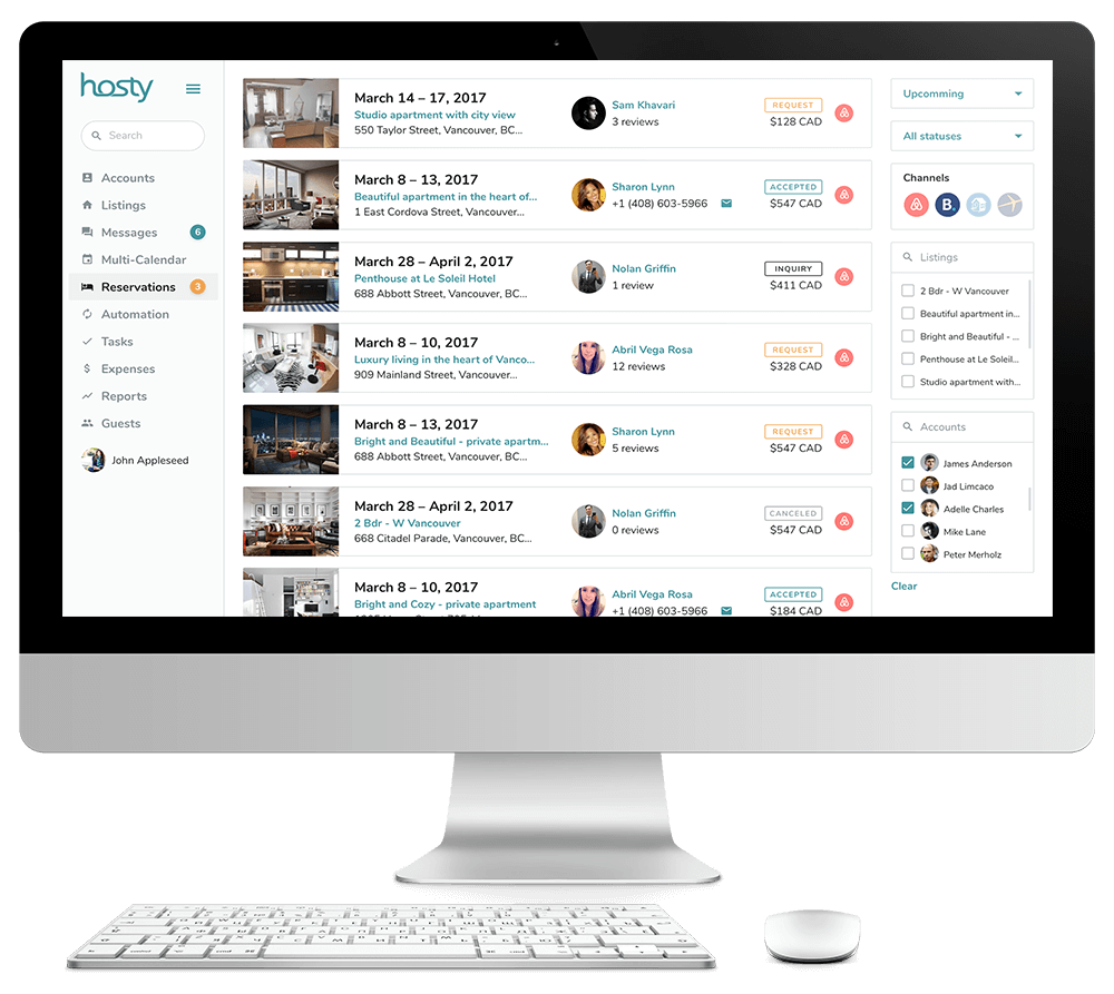 Airbnb Booking Management System