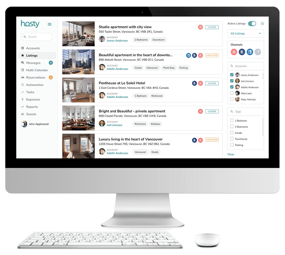 Airbnb Listing Management Feature