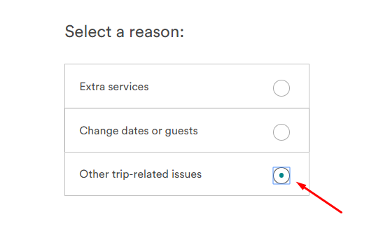 select the reason